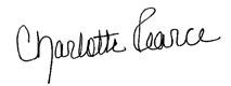 Signature Charlotte Pearce